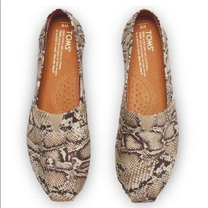 TOMS Snake print Natural canvas